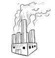 Doodle factory pollution vector image