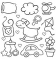 doodle of baby theme element vector image