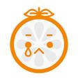 emoji - tears crying orange isolated vector image