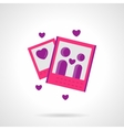 Marriage agency pink flat icon vector image