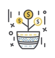 Money tree Growth in a pot vector image
