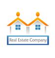 Real estate houses logo vector image