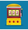 slot machine casino icon vector image