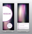 roll up advertising banners 0507 vector image vector image