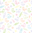 soft birds pattern vector image
