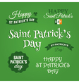 saint patrick design elements vector image vector image