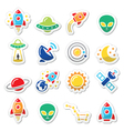 Space and UFO icons set vector image