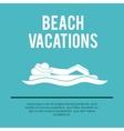beach vacations design vector image