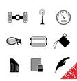 car parts icon set 2 vector image vector image