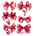 Six red bows vector image vector image