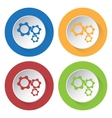 set of four icons - three cogwheel vector image