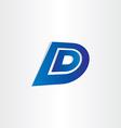 blue letter d icon design vector image