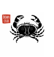 Brown Crab black and white vector image