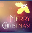 christmas banner with snow and holly leaves vector image