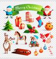 christmas cartoon set vector image