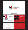 corporate logo identity and business card with vector image