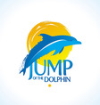 dolphin logo vector image