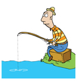 Fishing cartoon vector image