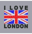 i love London City typography graphics vector image