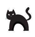 isolated cat silhouette vector image