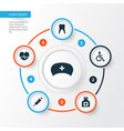 Medicine icons set collection of disabled vector image
