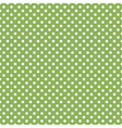 seamless green polka dot vector image