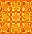 set of yellow rays retro vector image