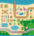 swimming pool hotel resort layout template vector image