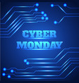 Cyber monday sale background vector image