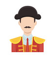Matador icon in cartoon style isolated on white vector image