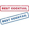 Best Cocktail Rubber Stamps vector image vector image