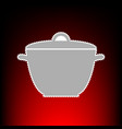 saucepan simple sign postage stamp or old photo vector image
