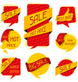 Sale speech bubbles and banners vector image