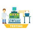 industrial product testing isolated concept vector image