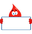 Blood donation cartoon vector image vector image