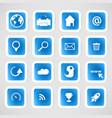 Social color Media Circles Icon Network vector image vector image