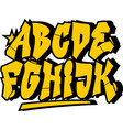 Graffiti style font type alphabet part 1 vector image