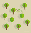 Cute seamless pattern with abstract trees and word vector image