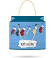 Paper Shopping Bags collection for the holiday vector image