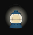 Blue gas lamp vector image