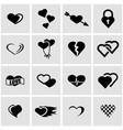 black heart icon set vector image