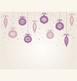 Christmas balls abstract background vector image