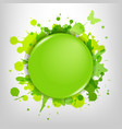 Green Glass With Green Blots vector image