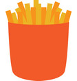 isolated french fries vector image