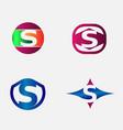 Letter S Logo alphabet design element templ vector image