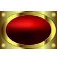 Oval frame gold color vector image