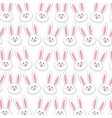 rabbit easter background decoration design vector image