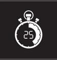 stopwatch twenty five minute vector image