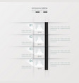 Timeline report design template black and white vector image