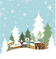 Winter Village vector image